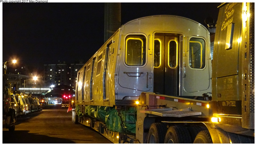 (283k, 1044x596)<br><b>Country:</b> United States<br><b>City:</b> New York<br><b>System:</b> New York City Transit<br><b>Location:</b> 207th Street Yard<br><b>Car:</b> R-179 (Bombardier, 2016-) 3052 <br><b>Photo by:</b> Max Diamond<br><b>Date:</b> 12/21/2016<br><b>Notes:</b> Delivery to 207th St. Yard.<br><b>Viewed (this week/total):</b> 1 / 358