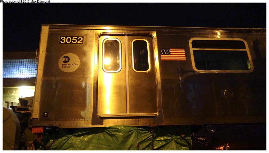 (209k, 1044x596)<br><b>Country:</b> United States<br><b>City:</b> New York<br><b>System:</b> New York City Transit<br><b>Location:</b> 207th Street Yard<br><b>Car:</b> R-179 (Bombardier, 2016-) 3052 <br><b>Photo by:</b> Max Diamond<br><b>Date:</b> 12/21/2016<br><b>Notes:</b> Delivery to 207th St. Yard.<br><b>Viewed (this week/total):</b> 0 / 404