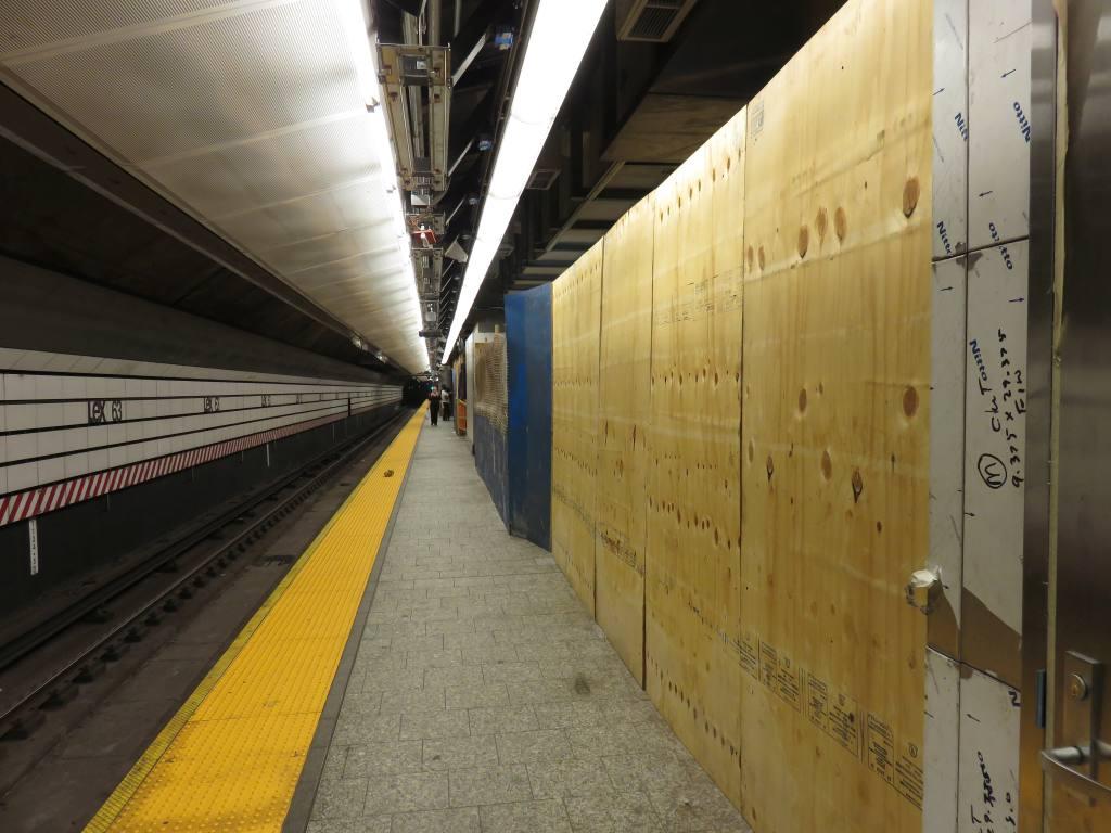 (113k, 1024x768)<br><b>Country:</b> United States<br><b>City:</b> New York<br><b>System:</b> New York City Transit<br><b>Line:</b> IND 63rd Street Line<br><b>Location:</b> Lexington Avenue-63rd Street<br><b>Photo by:</b> Robbie Rosenfeld<br><b>Date:</b> 6/2/2016<br><b>Notes:</b> Preparing the platforms for 2nd Avenue subway transfer.<br><b>Viewed (this week/total):</b> 1 / 880