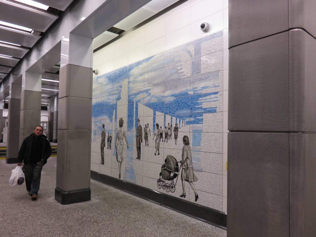 (138k, 1024x768)<br><b>Country:</b> United States<br><b>City:</b> New York<br><b>System:</b> New York City Transit<br><b>Line:</b> IND 63rd Street<br><b>Location:</b> Lexington Avenue-63rd Street <br><b>Photo by:</b> Robbie Rosenfeld<br><b>Date:</b> 1/11/2017<br><b>Artwork:</b> <i>Elevated</i>, Jean Shin (2016).<br><b>Viewed (this week/total):</b> 1 / 617