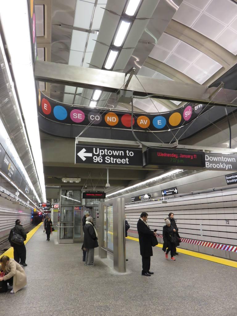 (141k, 768x1024)<br><b>Country:</b> United States<br><b>City:</b> New York<br><b>System:</b> New York City Transit<br><b>Line:</b> 2nd Avenue Subway<br><b>Location:</b> 72nd Street <br><b>Photo by:</b> Robbie Rosenfeld<br><b>Date:</b> 1/11/2017<br><b>Viewed (this week/total):</b> 1 / 596