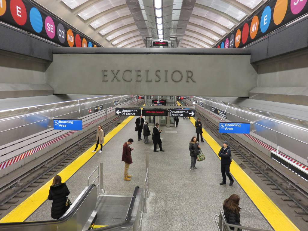 (141k, 1024x768)<br><b>Country:</b> United States<br><b>City:</b> New York<br><b>System:</b> New York City Transit<br><b>Line:</b> 2nd Avenue Subway<br><b>Location:</b> 72nd Street <br><b>Photo by:</b> Robbie Rosenfeld<br><b>Date:</b> 1/11/2017<br><b>Viewed (this week/total):</b> 1 / 678