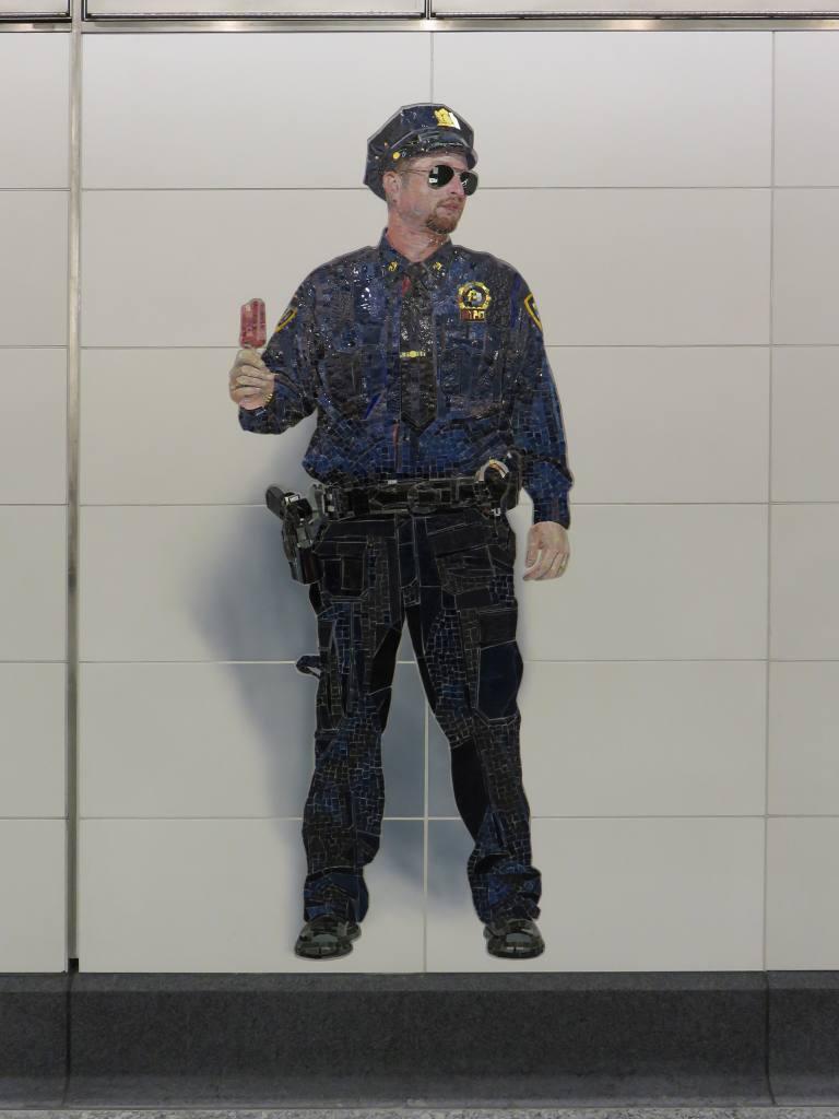(81k, 768x1024)<br><b>Country:</b> United States<br><b>City:</b> New York<br><b>System:</b> New York City Transit<br><b>Line:</b> 2nd Avenue Subway<br><b>Location:</b> 72nd Street <br><b>Photo by:</b> Robbie Rosenfeld<br><b>Date:</b> 1/11/2017<br><b>Artwork:</b> <i>Perfect Strangers</i>, Vik Muniz (2016).<br><b>Viewed (this week/total):</b> 2 / 760