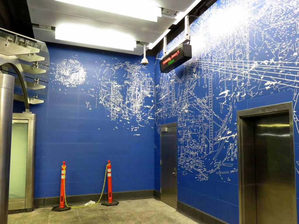 (143k, 1024x768)<br><b>Country:</b> United States<br><b>City:</b> New York<br><b>System:</b> New York City Transit<br><b>Line:</b> 2nd Avenue Subway<br><b>Location:</b> 96th Street <br><b>Photo by:</b> Robbie Rosenfeld<br><b>Date:</b> 1/11/2017<br><b>Artwork:</b> <i>Blueprint for a Landscape</i>, Sarah Sze (2016).<br><b>Viewed (this week/total):</b> 3 / 540