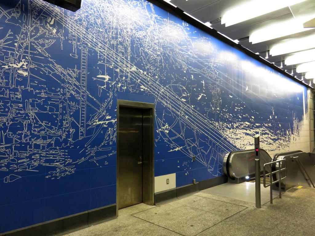 (173k, 1024x768)<br><b>Country:</b> United States<br><b>City:</b> New York<br><b>System:</b> New York City Transit<br><b>Line:</b> 2nd Avenue Subway<br><b>Location:</b> 96th Street <br><b>Photo by:</b> Robbie Rosenfeld<br><b>Date:</b> 1/11/2017<br><b>Artwork:</b> <i>Blueprint for a Landscape</i>, Sarah Sze (2016).<br><b>Viewed (this week/total):</b> 4 / 732