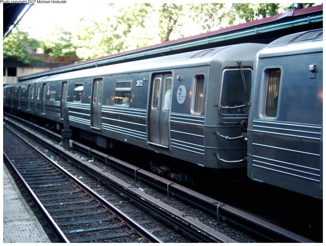 (377k, 1044x788)<br><b>Country:</b> United States<br><b>City:</b> New York<br><b>System:</b> New York City Transit<br><b>Line:</b> BMT Brighton Line<br><b>Location:</b> Prospect Park <br><b>Route:</b> Q<br><b>Car:</b> R-68 (Westinghouse-Amrail, 1986-1988)  2872 <br><b>Photo by:</b> Michael Hodurski<br><b>Date:</b> 6/20/2005<br><b>Viewed (this week/total):</b> 2 / 292