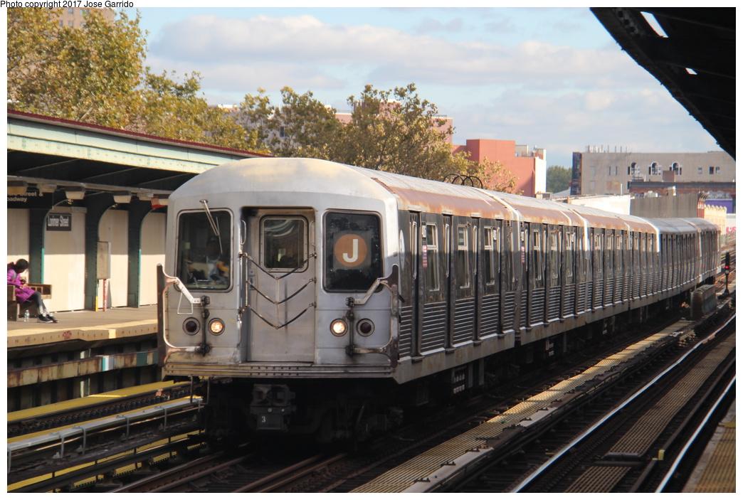 (335k, 1044x703)<br><b>Country:</b> United States<br><b>City:</b> New York<br><b>System:</b> New York City Transit<br><b>Line:</b> BMT Nassau Street/Jamaica Line<br><b>Location:</b> Lorimer Street <br><b>Route:</b> J<br><b>Car:</b> R-42 (St. Louis, 1969-1970)  4826 <br><b>Photo by:</b> Jose Garrido<br><b>Date:</b> 10/28/2016<br><b>Viewed (this week/total):</b> 1 / 611