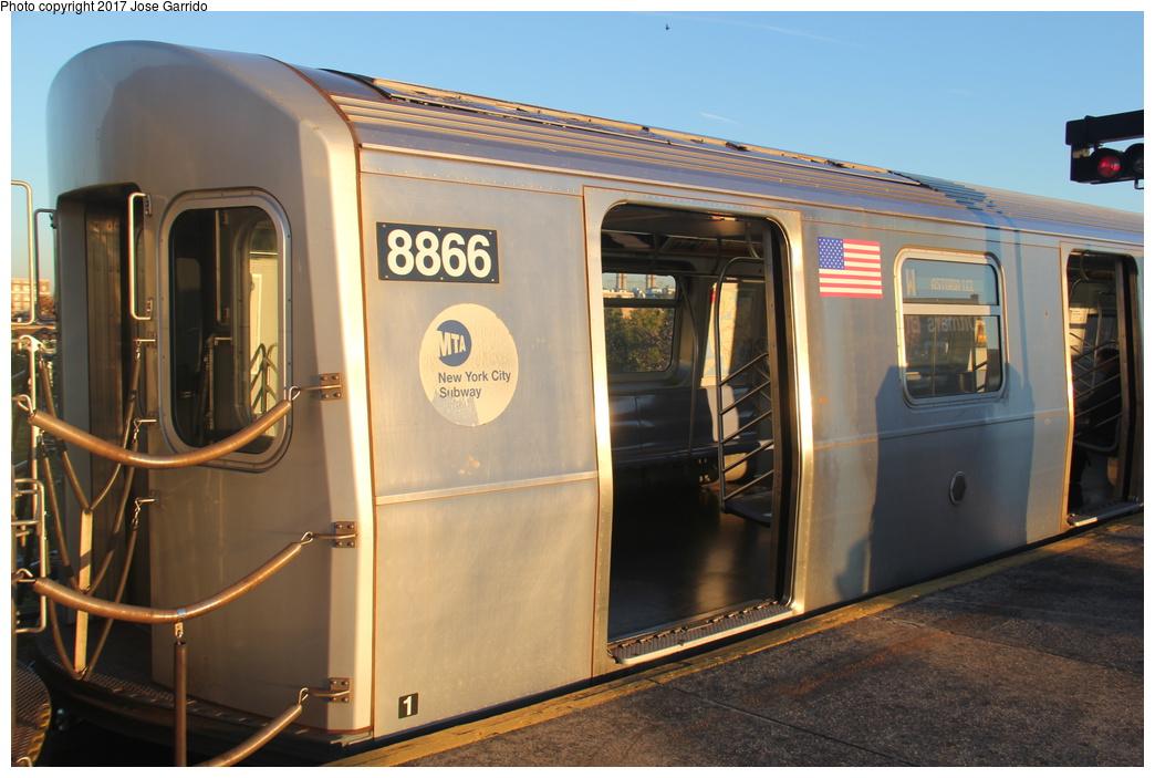 (291k, 1044x703)<br><b>Country:</b> United States<br><b>City:</b> New York<br><b>System:</b> New York City Transit<br><b>Line:</b> BMT Astoria Line<br><b>Location:</b> Ditmars Boulevard <br><b>Route:</b> W<br><b>Car:</b> R-160B (Kawasaki, 2005-2008)  8866 <br><b>Photo by:</b> Jose Garrido<br><b>Date:</b> 11/8/2016<br><b>Viewed (this week/total):</b> 0 / 686