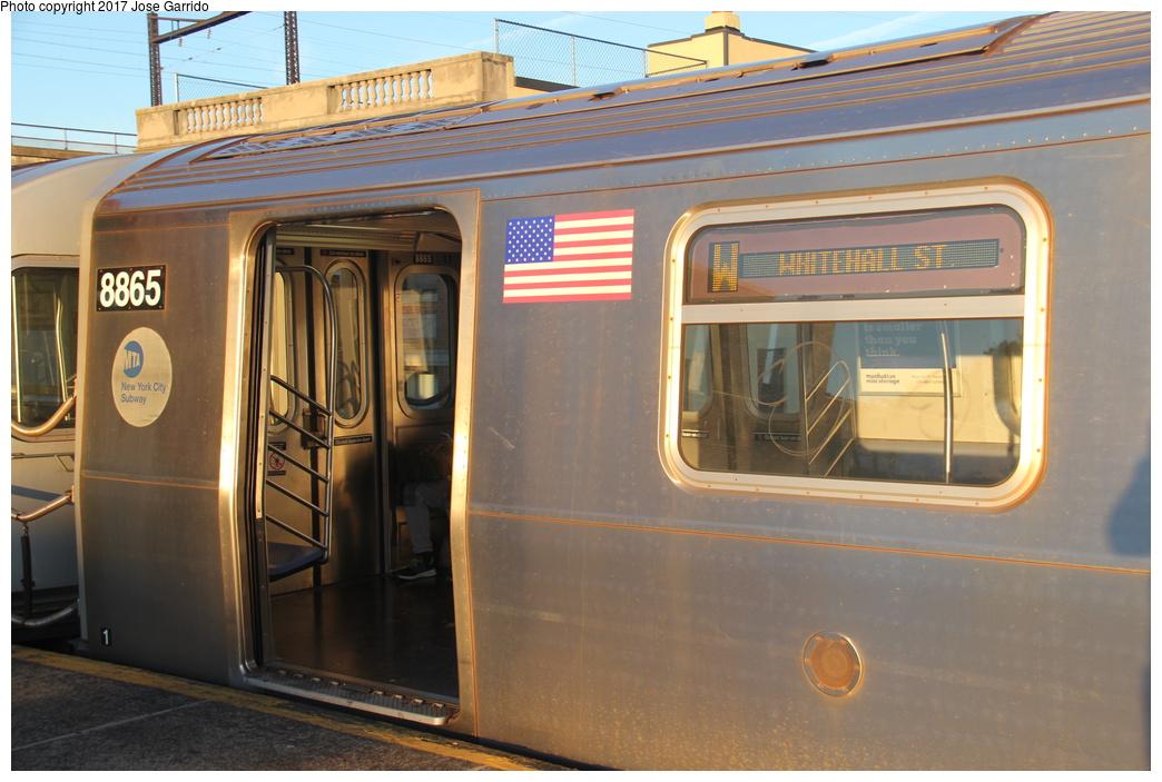 (295k, 1044x703)<br><b>Country:</b> United States<br><b>City:</b> New York<br><b>System:</b> New York City Transit<br><b>Line:</b> BMT Astoria Line<br><b>Location:</b> Ditmars Boulevard <br><b>Route:</b> W<br><b>Car:</b> R-160B (Kawasaki, 2005-2008)  8865 <br><b>Photo by:</b> Jose Garrido<br><b>Date:</b> 11/8/2016<br><b>Viewed (this week/total):</b> 0 / 570