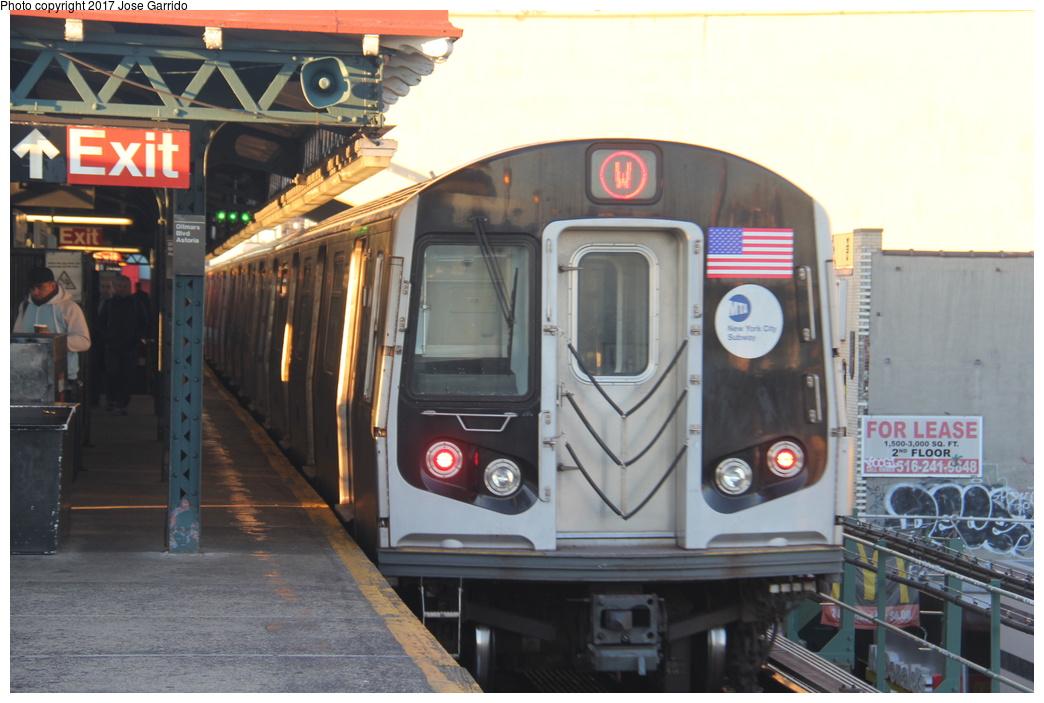 (281k, 1044x703)<br><b>Country:</b> United States<br><b>City:</b> New York<br><b>System:</b> New York City Transit<br><b>Line:</b> BMT Astoria Line<br><b>Location:</b> Ditmars Boulevard <br><b>Route:</b> W<br><b>Car:</b> R-160B (Kawasaki, 2005-2008)  8867 <br><b>Photo by:</b> Jose Garrido<br><b>Date:</b> 11/8/2016<br><b>Viewed (this week/total):</b> 0 / 615