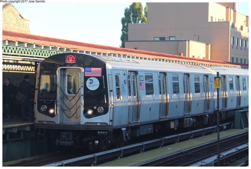 (282k, 1044x703)<br><b>Country:</b> United States<br><b>City:</b> New York<br><b>System:</b> New York City Transit<br><b>Line:</b> BMT Astoria Line<br><b>Location:</b> Broadway <br><b>Route:</b> W<br><b>Car:</b> R-160B (Option 1) (Kawasaki, 2008-2009)  9198 <br><b>Photo by:</b> Jose Garrido<br><b>Date:</b> 11/8/2016<br><b>Viewed (this week/total):</b> 2 / 466