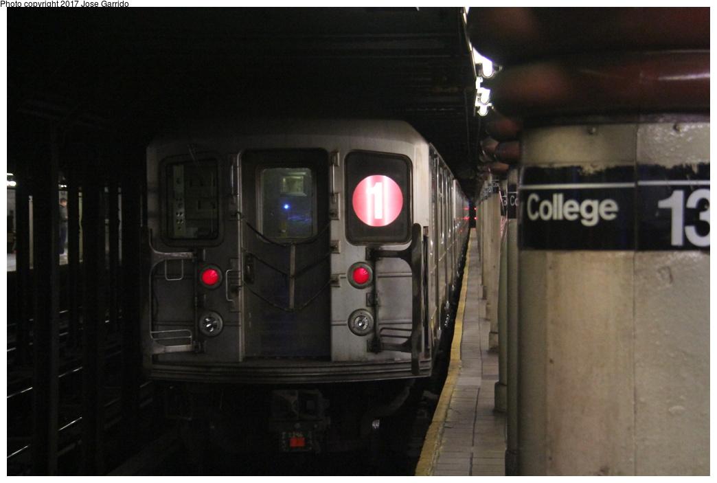 (215k, 1044x703)<br><b>Country:</b> United States<br><b>City:</b> New York<br><b>System:</b> New York City Transit<br><b>Line:</b> IRT West Side Line<br><b>Location:</b> 137th Street/City College<br><b>Route:</b> 1<br><b>Car:</b> R-62A (Bombardier, 1984-1987) 2246 <br><b>Photo by:</b> Jose Garrido<br><b>Date:</b> 11/8/2016<br><b>Viewed (this week/total):</b> 0 / 1057