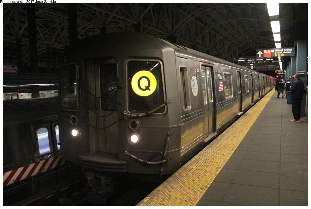 (274k, 1044x703)<br><b>Country:</b> United States<br><b>City:</b> New York<br><b>System:</b> New York City Transit<br><b>Location:</b> Coney Island/Stillwell Avenue<br><b>Route:</b> Q<br><b>Car:</b> R-68A (Kawasaki, 1988-1989)  5104 <br><b>Photo by:</b> Jose Garrido<br><b>Date:</b> 11/10/2016<br><b>Viewed (this week/total):</b> 0 / 662