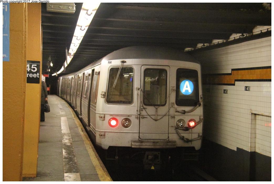(265k, 1044x703)<br><b>Country:</b> United States<br><b>City:</b> New York<br><b>System:</b> New York City Transit<br><b>Line:</b> IND 8th Avenue Line<br><b>Location:</b> 145th Street <br><b>Route:</b> A<br><b>Car:</b> R-46 (Pullman-Standard, 1974-75) 5970 <br><b>Photo by:</b> Jose Garrido<br><b>Date:</b> 11/17/2016<br><b>Viewed (this week/total):</b> 1 / 835