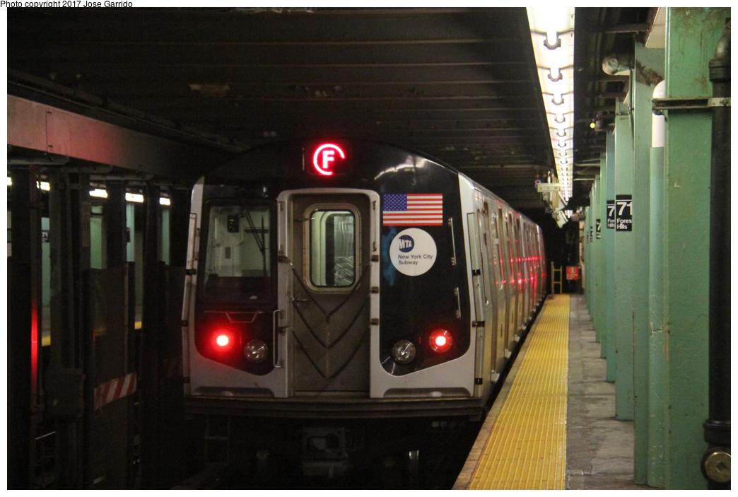 (260k, 1044x703)<br><b>Country:</b> United States<br><b>City:</b> New York<br><b>System:</b> New York City Transit<br><b>Line:</b> IND Queens Boulevard Line<br><b>Location:</b> 71st/Continental Aves./Forest Hills <br><b>Route:</b> F<br><b>Car:</b> R-160A (Option 1) (Alstom, 2008-2009, 5 car sets)  9258 <br><b>Photo by:</b> Jose Garrido<br><b>Date:</b> 11/19/2016<br><b>Viewed (this week/total):</b> 3 / 718
