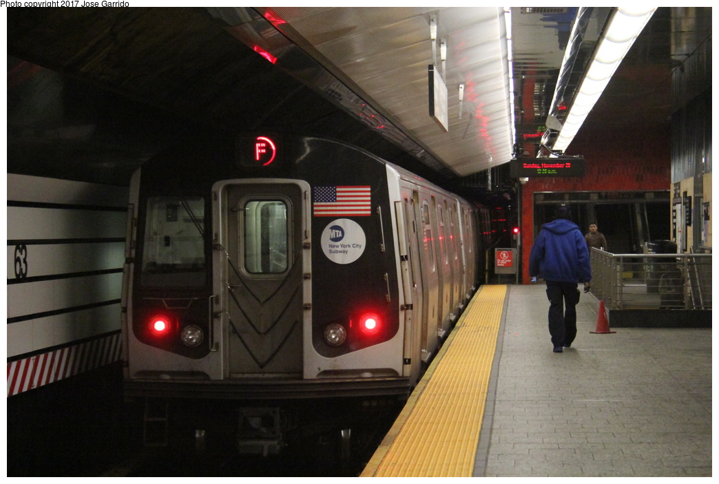 (269k, 1044x703)<br><b>Country:</b> United States<br><b>City:</b> New York<br><b>System:</b> New York City Transit<br><b>Line:</b> IND 63rd Street<br><b>Location:</b> Lexington Avenue-63rd Street <br><b>Route:</b> F<br><b>Car:</b> R-160A (Option 2) (Alstom, 2009, 5-car sets)  9782 <br><b>Photo by:</b> Jose Garrido<br><b>Date:</b> 11/20/2016<br><b>Viewed (this week/total):</b> 0 / 477