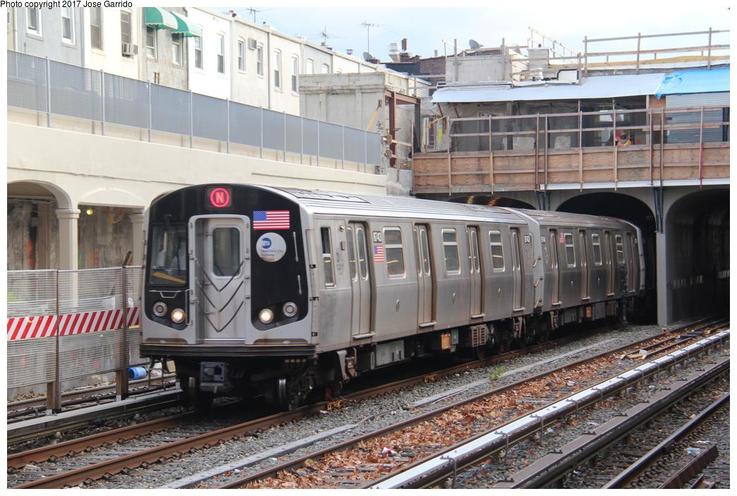 (365k, 1044x703)<br><b>Country:</b> United States<br><b>City:</b> New York<br><b>System:</b> New York City Transit<br><b>Line:</b> BMT Sea Beach Line<br><b>Location:</b> 86th Street <br><b>Route:</b> N<br><b>Car:</b> R-160B (Kawasaki, 2005-2008)  8743 <br><b>Photo by:</b> Jose Garrido<br><b>Date:</b> 12/2/2016<br><b>Viewed (this week/total):</b> 1 / 670