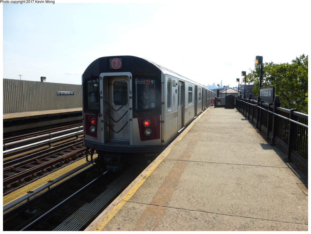 (322k, 1044x788)<br><b>Country:</b> United States<br><b>City:</b> New York<br><b>System:</b> New York City Transit<br><b>Line:</b> IRT Flushing Line<br><b>Location:</b> 52nd Street/Lincoln Avenue <br><b>Route:</b> 7<br><b>Car:</b> R-188 (R-142A Conversion, Kawasaki, 1999-2002) 7490 <br><b>Photo by:</b> Kevin Wong<br><b>Date:</b> 8/19/2017<br><b>Viewed (this week/total):</b> 4 / 825