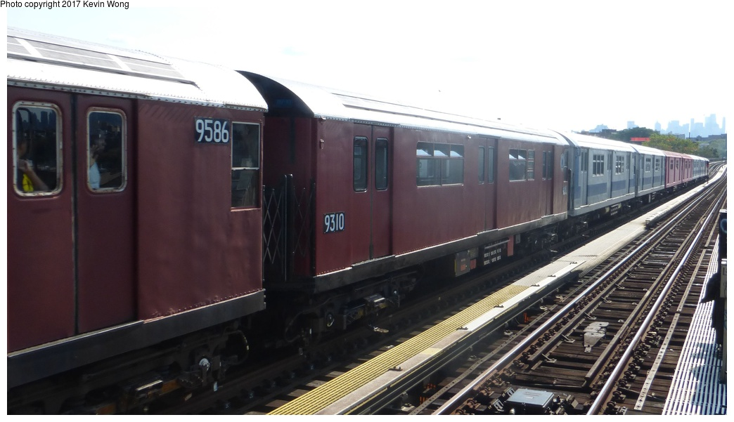(215k, 1044x601)<br><b>Country:</b> United States<br><b>City:</b> New York<br><b>System:</b> New York City Transit<br><b>Line:</b> IRT Flushing Line<br><b>Location:</b> 52nd Street/Lincoln Avenue <br><b>Route:</b> Museum Train Service<br><b>Car:</b> R-33 World's Fair (St. Louis, 1963-64) 9310 <br><b>Photo by:</b> Kevin Wong<br><b>Date:</b> 8/19/2017<br><b>Viewed (this week/total):</b> 4 / 589