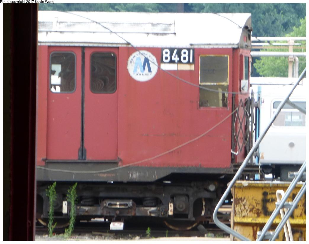 (267k, 1044x827)<br><b>Country:</b> United States<br><b>City:</b> New York<br><b>System:</b> New York City Transit<br><b>Location:</b> 207th Street Shop<br><b>Car:</b> R-30 (St. Louis, 1961) 8481 <br><b>Photo by:</b> Kevin Wong<br><b>Date:</b> 8/5/2017<br><b>Viewed (this week/total):</b> 2 / 1123