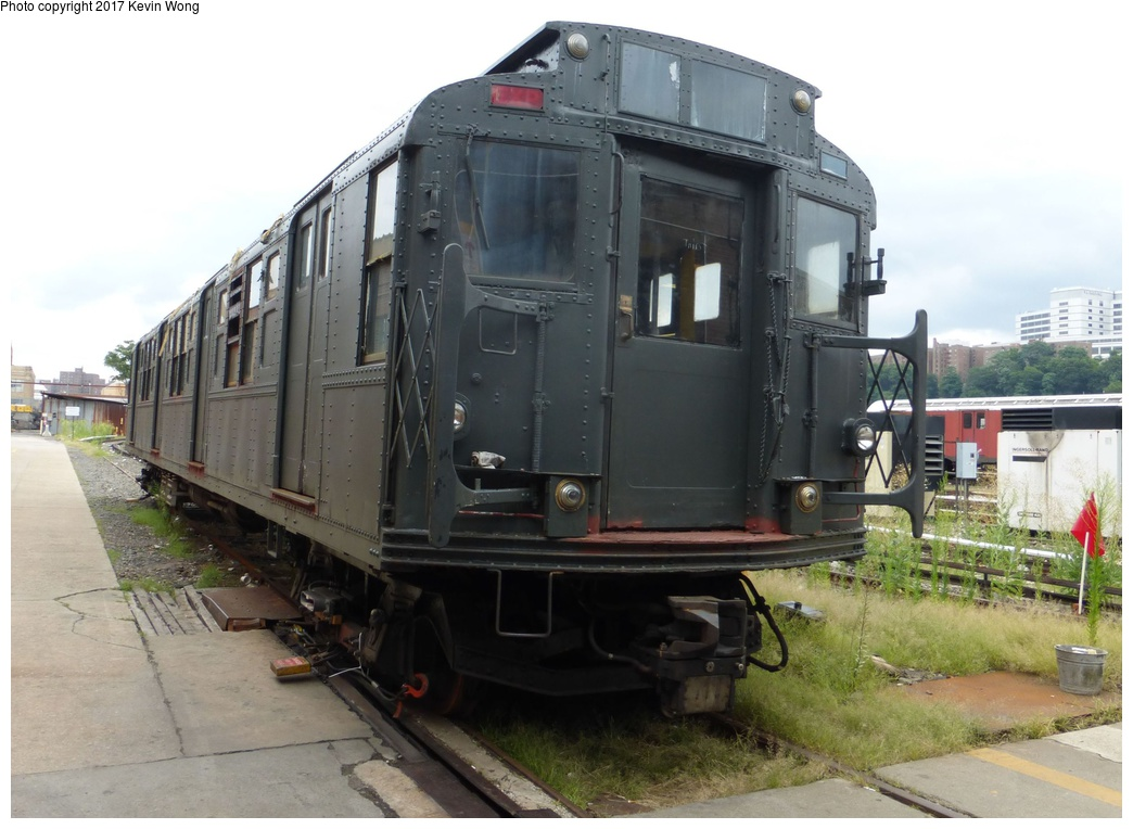 (273k, 1044x764)<br><b>Country:</b> United States<br><b>City:</b> New York<br><b>System:</b> New York City Transit<br><b>Location:</b> 207th Street Shop<br><b>Car:</b> R-1 (American Car & Foundry, 1930-1931) 103 <br><b>Photo by:</b> Kevin Wong<br><b>Date:</b> 8/5/2017<br><b>Notes:</b> Restoration work completed, needs some finishing work and road testing.<br><b>Viewed (this week/total):</b> 5 / 973
