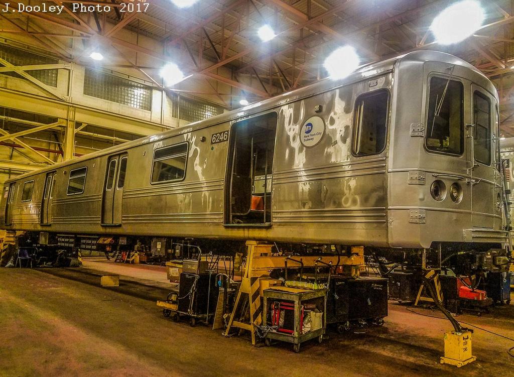 (399k, 1024x751)<br><b>Country:</b> United States<br><b>City:</b> New York<br><b>System:</b> New York City Transit<br><b>Location:</b> Coney Island Shop/Overhaul & Repair Shop<br><b>Car:</b> R-46 (Pullman-Standard, 1974-75) 6246 <br><b>Photo by:</b> John Dooley<br><b>Date:</b> 5/7/2017<br><b>Viewed (this week/total):</b> 1 / 748