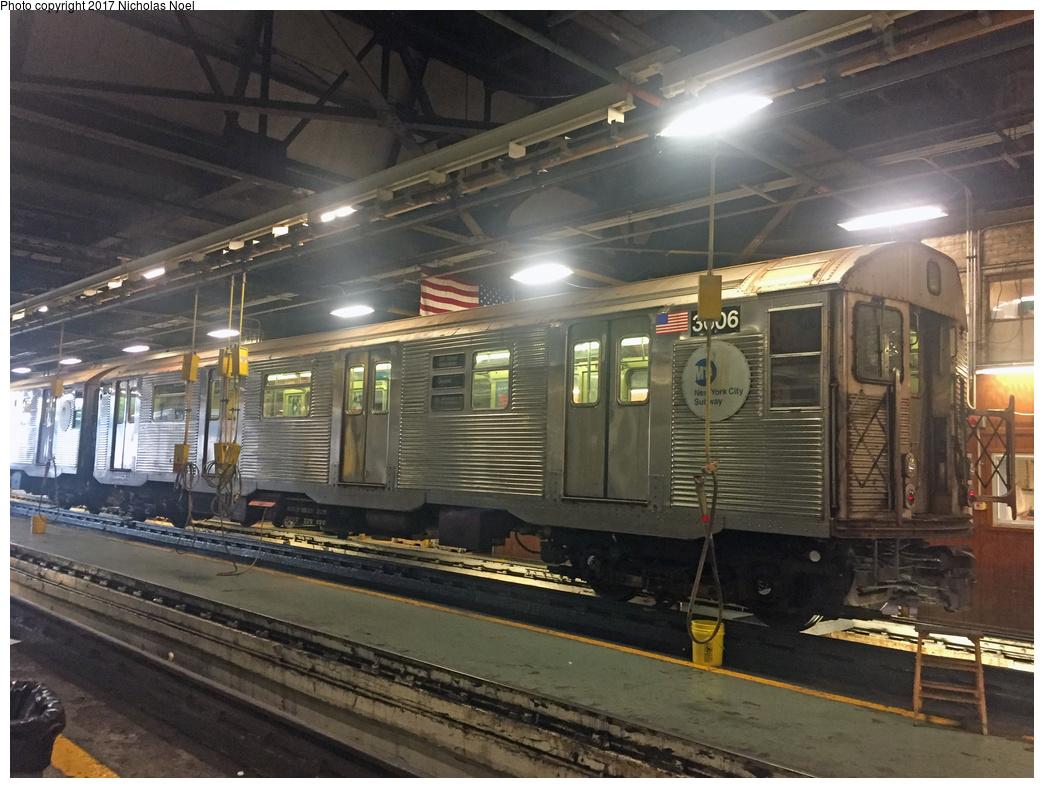 (372k, 1044x788)<br><b>Country:</b> United States<br><b>City:</b> New York<br><b>System:</b> New York City Transit<br><b>Location:</b> 207th Street Shop<br><b>Car:</b> R-32 (Budd, 1964)  3606 <br><b>Photo by:</b> Nicholas Noel<br><b>Date:</b> 7/20/2017<br><b>Viewed (this week/total):</b> 1 / 587