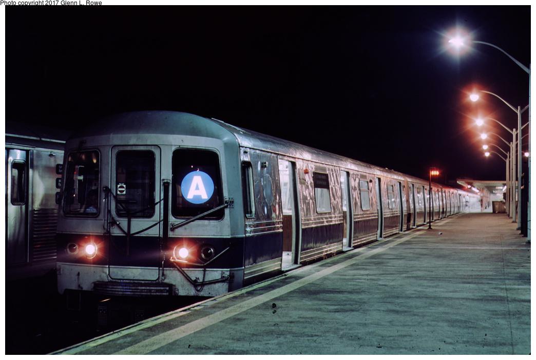(273k, 1044x702)<br><b>Country:</b> United States<br><b>City:</b> New York<br><b>System:</b> New York City Transit<br><b>Line:</b> IND Rockaway Line<br><b>Location:</b> Rockaway Park/Beach 116th Street<br><b>Route:</b> A<br><b>Car:</b> R-44 (St. Louis, 1971-73) 310 <br><b>Photo by:</b> Glenn L. Rowe<br><b>Date:</b> 8/19/1991<br><b>Viewed (this week/total):</b> 0 / 1102