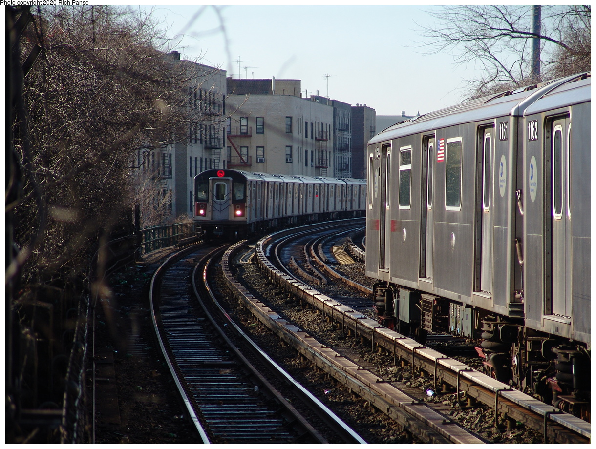 (562k, 1220x920)<br><b>Country:</b> United States<br><b>City:</b> New York<br><b>System:</b> New York City Transit<br><b>Line:</b> IRT Woodlawn Line<br><b>Location:</b> Bedford Park Boulevard<br><b>Route:</b> 4<br><b>Car:</b> R-142 (Option Order, Bombardier, 2002-2003) 1161 <br><b>Photo by:</b> Richard Panse<br><b>Date:</b> 1/24/2006<br><b>Viewed (this week/total):</b> 4 / 63