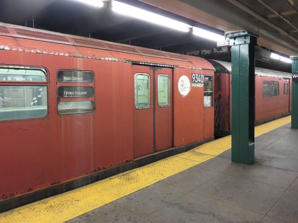 (102k, 1024x768)<br><b>Country:</b> United States<br><b>City:</b> New York<br><b>System:</b> New York City Transit<br><b>Line:</b> IND 6th Avenue Line<br><b>Location:</b> West 4th Street/Washington Square <br><b>Route:</b> Work Service<br><b>Car:</b> R-33 World's Fair (St. Louis, 1963-64) 9340 <br><b>Photo by:</b> Robbie Rosenfeld<br><b>Date:</b> 6/29/2017<br><b>Viewed (this week/total):</b> 3 / 836