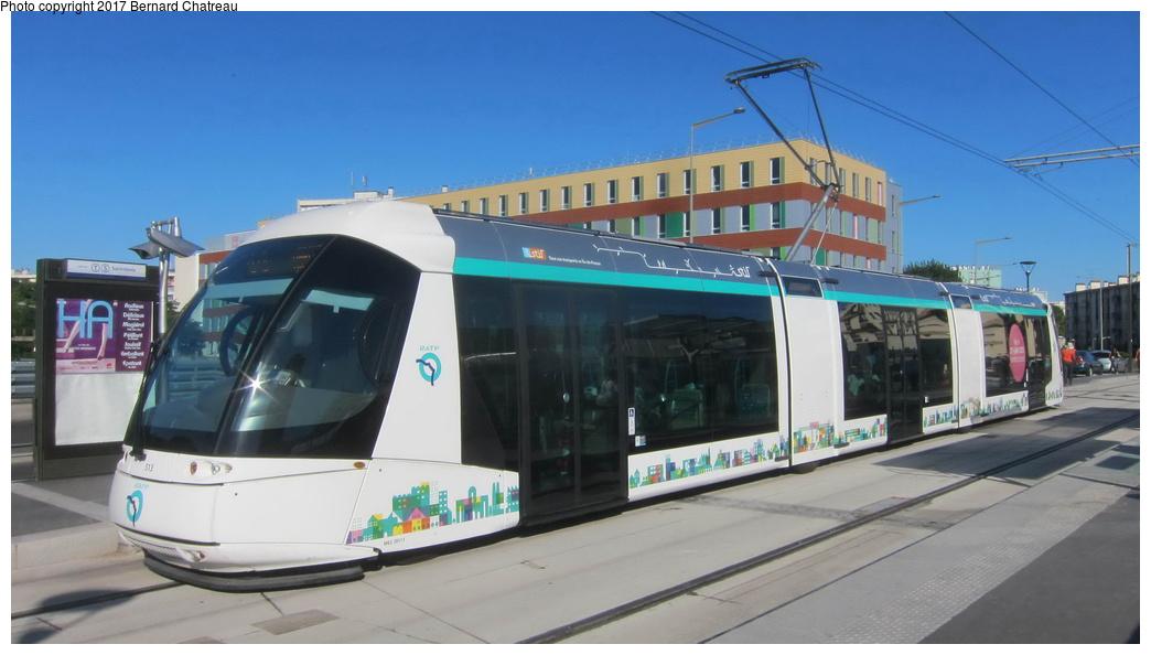 (203k, 1044x594)<br><b>Country:</b> France<br><b>City:</b> Paris<br><b>System:</b> RATP (Régie Autonome des Transports Parisiens)<br><b>Line:</b> Tram T5 <br><b>Location:</b> Garges - Sarcelles <br><b>Car:</b> RATP Translohr STE3 (Lohr, 2013) 513 <br><b>Photo by:</b> Bernard Chatreau<br><b>Date:</b> 8/1/2013<br><b>Viewed (this week/total):</b> 0 / 47