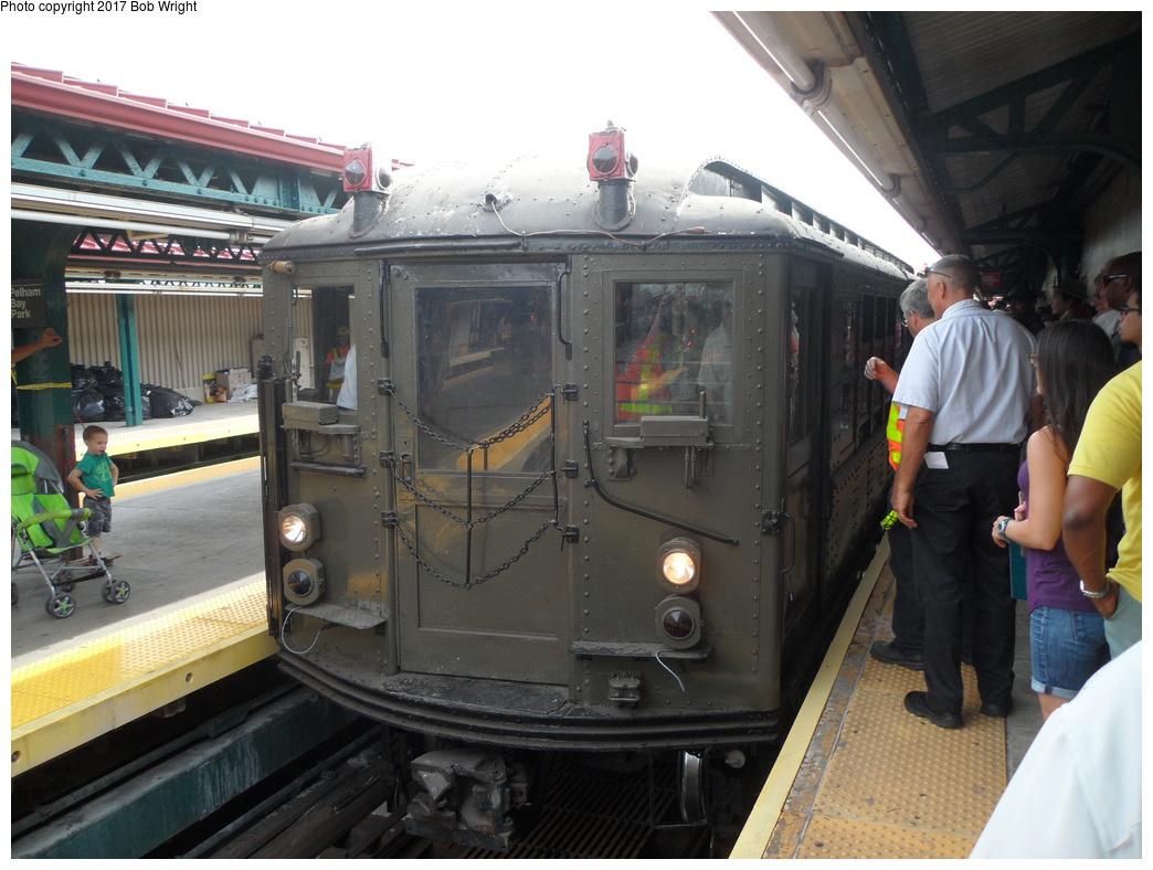 (319k, 1044x788)<br><b>Country:</b> United States<br><b>City:</b> New York<br><b>System:</b> New York City Transit<br><b>Line:</b> IRT Pelham Line<br><b>Location:</b> Pelham Bay Park <br><b>Route:</b> Museum Train Service<br><b>Car:</b> Low-V (Museum Train)  <br><b>Photo by:</b> Bob Wright<br><b>Date:</b> 8/9/2015<br><b>Viewed (this week/total):</b> 1 / 500