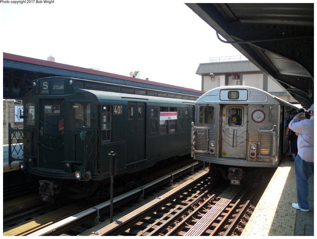 (313k, 1044x788)<br><b>Country:</b> United States<br><b>City:</b> New York<br><b>System:</b> New York City Transit<br><b>Line:</b> BMT Brighton Line<br><b>Location:</b> Brighton Beach <br><b>Route:</b> Museum Train Service<br><b>Car:</b> R-4 (American Car & Foundry, 1932-1933) 401 <br><b>Photo by:</b> Bob Wright<br><b>Date:</b> 6/25/2016<br><b>Viewed (this week/total):</b> 0 / 472