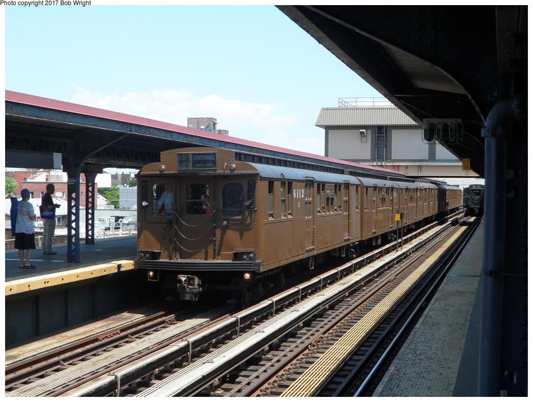 (365k, 1044x788)<br><b>Country:</b> United States<br><b>City:</b> New York<br><b>System:</b> New York City Transit<br><b>Line:</b> BMT Brighton Line<br><b>Location:</b> Brighton Beach <br><b>Route:</b> Museum Train Service<br><b>Car:</b> BMT D-Type Triplex 6112 <br><b>Photo by:</b> Bob Wright<br><b>Date:</b> 6/25/2016<br><b>Viewed (this week/total):</b> 0 / 538