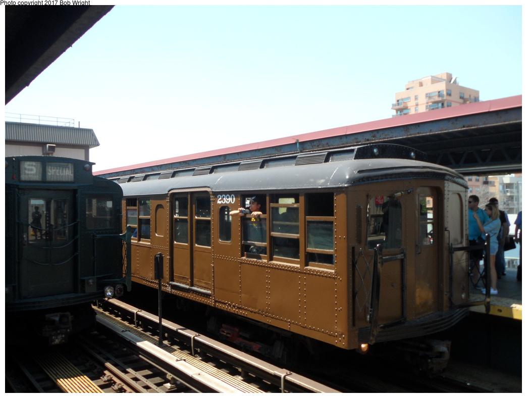 (259k, 1044x788)<br><b>Country:</b> United States<br><b>City:</b> New York<br><b>System:</b> New York City Transit<br><b>Line:</b> BMT Brighton Line<br><b>Location:</b> Brighton Beach <br><b>Route:</b> Museum Train Service<br><b>Car:</b> BMT A/B-Type Standard 2390 <br><b>Photo by:</b> Bob Wright<br><b>Date:</b> 6/25/2016<br><b>Viewed (this week/total):</b> 0 / 451