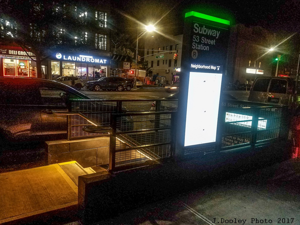(391k, 1024x768)<br><b>Country:</b> United States<br><b>City:</b> New York<br><b>System:</b> New York City Transit<br><b>Line:</b> BMT 4th Avenue<br><b>Location:</b> 53rd Street <br><b>Photo by:</b> John Dooley<br><b>Date:</b> 9/11/2017<br><b>Notes:</b> Modernized station renovations.<br><b>Viewed (this week/total):</b> 1 / 576
