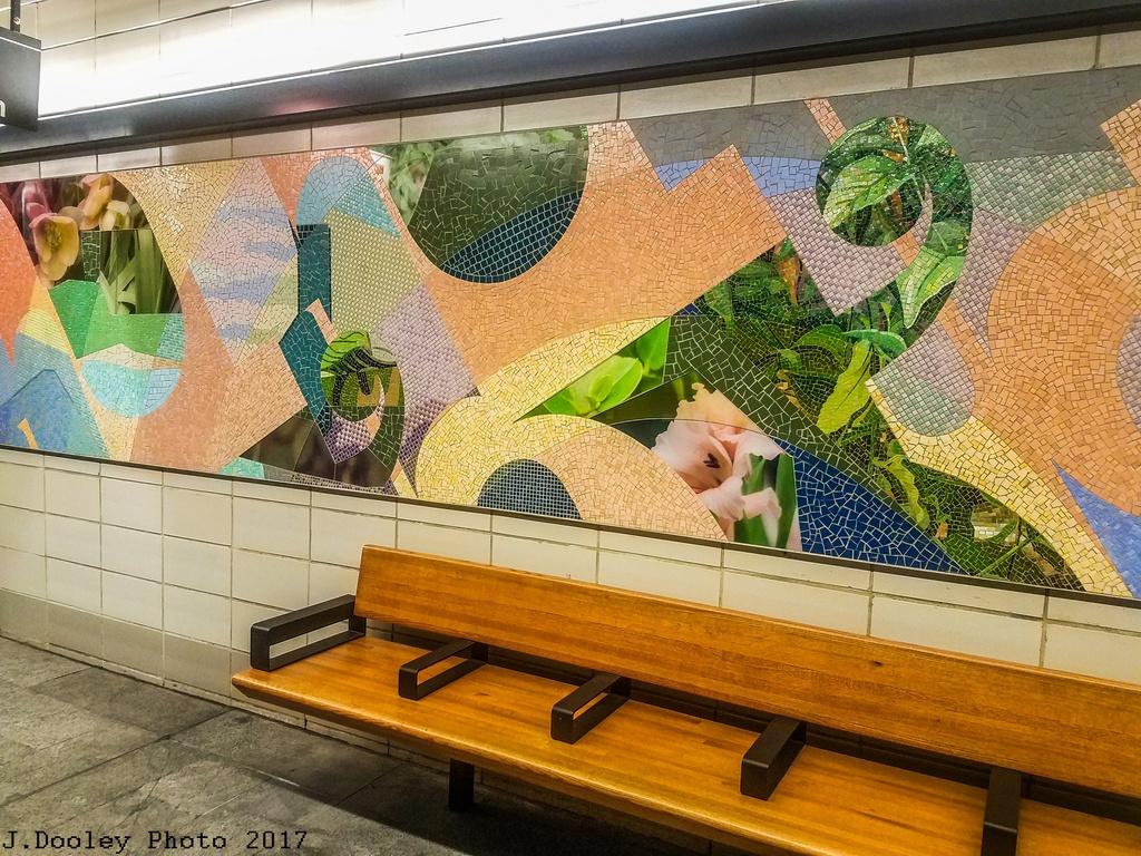 (413k, 1024x768)<br><b>Country:</b> United States<br><b>City:</b> New York<br><b>System:</b> New York City Transit<br><b>Line:</b> BMT 4th Avenue<br><b>Location:</b> 53rd Street <br><b>Photo by:</b> John Dooley<br><b>Date:</b> 9/11/2017<br><b>Artwork:</b> <i>Title Unknown (53rd St)</i>, Mickalene Thomas (2017).<br><b>Notes:</b> Modernized station renovations.<br><b>Viewed (this week/total):</b> 0 / 491