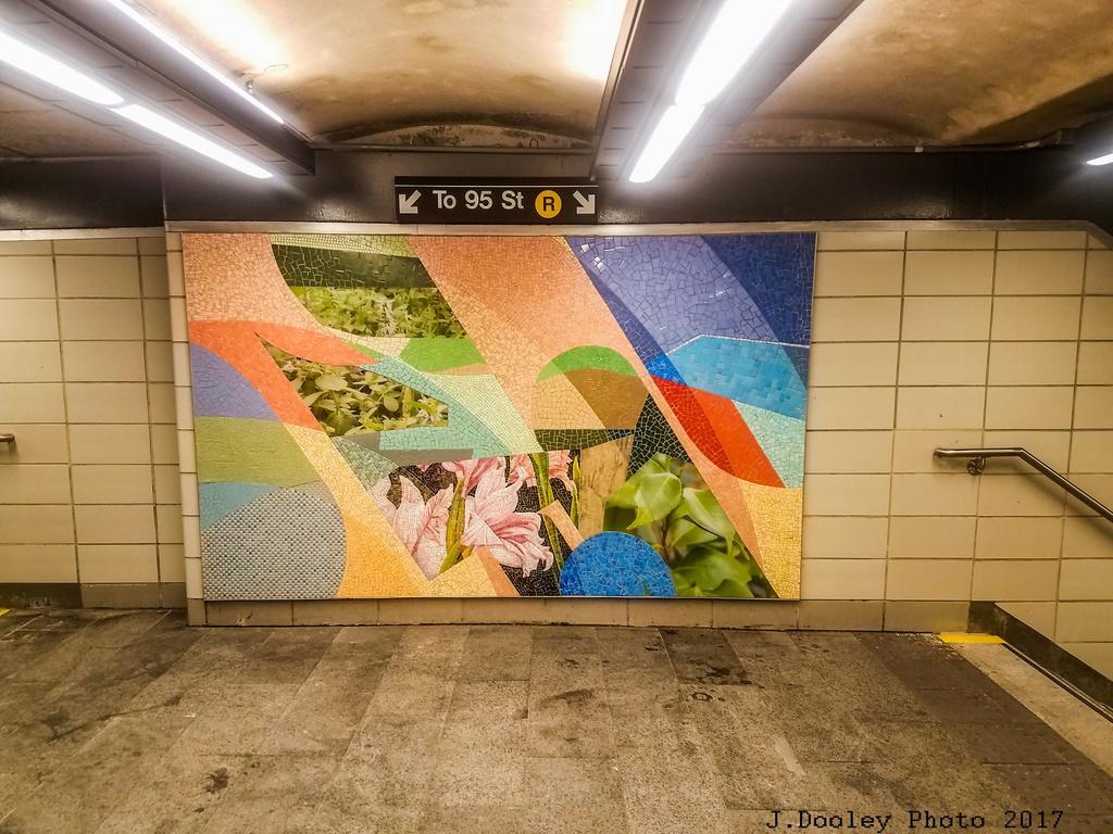 (328k, 1024x768)<br><b>Country:</b> United States<br><b>City:</b> New York<br><b>System:</b> New York City Transit<br><b>Line:</b> BMT 4th Avenue<br><b>Location:</b> 53rd Street <br><b>Photo by:</b> John Dooley<br><b>Date:</b> 9/11/2017<br><b>Artwork:</b> <i>Title Unknown (53rd St)</i>, Mickalene Thomas (2017).<br><b>Notes:</b> Modernized station renovations.<br><b>Viewed (this week/total):</b> 2 / 446