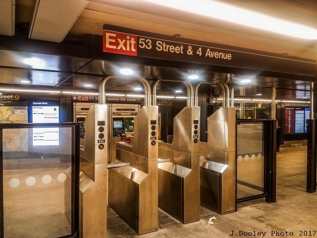 (291k, 1024x768)<br><b>Country:</b> United States<br><b>City:</b> New York<br><b>System:</b> New York City Transit<br><b>Line:</b> BMT 4th Avenue<br><b>Location:</b> 53rd Street <br><b>Photo by:</b> John Dooley<br><b>Date:</b> 9/11/2017<br><b>Notes:</b> Modernized station renovations.<br><b>Viewed (this week/total):</b> 2 / 550