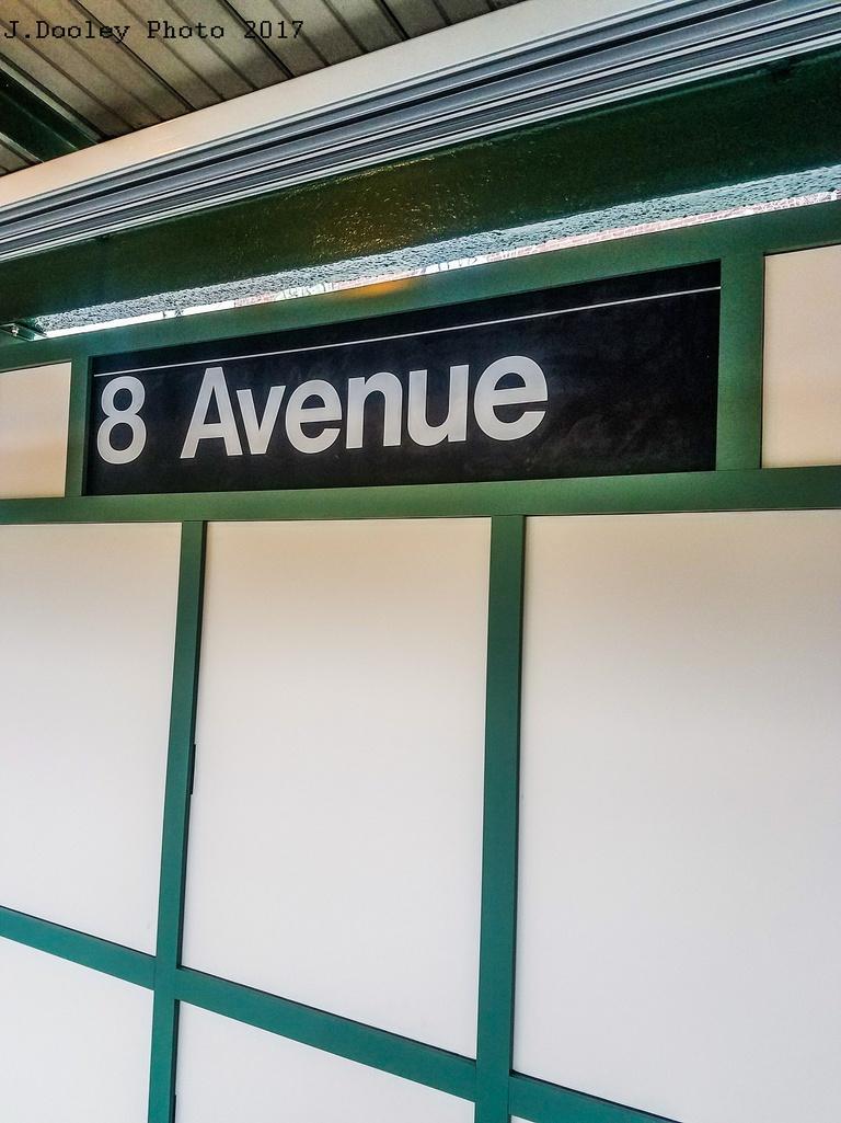 (249k, 768x1025)<br><b>Country:</b> United States<br><b>City:</b> New York<br><b>System:</b> New York City Transit<br><b>Line:</b> BMT Sea Beach Line<br><b>Location:</b> 8th Avenue <br><b>Photo by:</b> John Dooley<br><b>Date:</b> 5/12/2017<br><b>Notes:</b> Renovated platform walls.<br><b>Viewed (this week/total):</b> 1 / 596