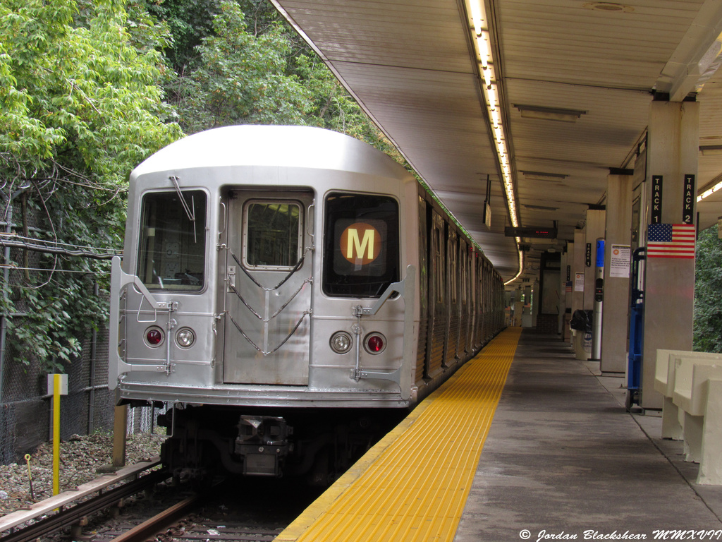 (469k, 1024x768)<br><b>Country:</b> United States<br><b>City:</b> New York<br><b>System:</b> New York City Transit<br><b>Line:</b> BMT Myrtle Avenue Line<br><b>Location:</b> Metropolitan Avenue <br><b>Route:</b> M shuttle<br><b>Car:</b> R-42 (St. Louis, 1969-1970)   <br><b>Photo by:</b> Jordan Blackshear<br><b>Date:</b> 9/2/2017<br><b>Viewed (this week/total):</b> 6 / 802