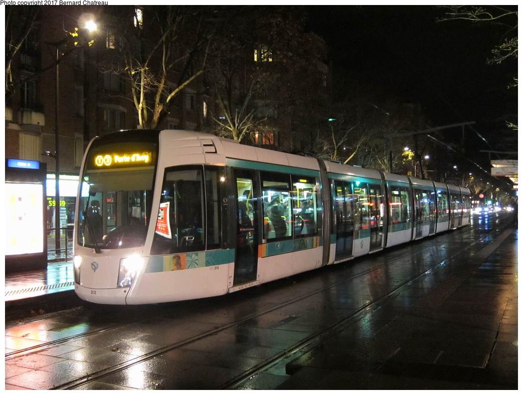 (314k, 1044x788)<br><b>Country:</b> France<br><b>City:</b> Paris<br><b>System:</b> RATP (Régie Autonome des Transports Parisiens)<br><b>Line:</b> Tram T3A <br><b>Location:</b> Brancion <br><b>Car:</b> Citadis Low-Floor Type 402 (Alstom, 2006)  312 <br><b>Photo by:</b> Bernard Chatreau<br><b>Date:</b> 12/3/2011<br><b>Viewed (this week/total):</b> 0 / 80