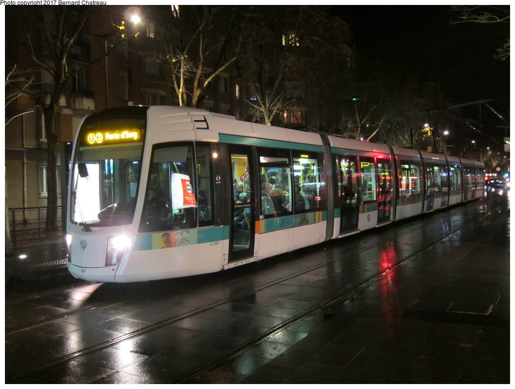 (278k, 1044x788)<br><b>Country:</b> France<br><b>City:</b> Paris<br><b>System:</b> RATP (Régie Autonome des Transports Parisiens)<br><b>Line:</b> Tram T3A <br><b>Location:</b> Brancion <br><b>Car:</b> Citadis Low-Floor Type 402 (Alstom, 2006)  321 <br><b>Photo by:</b> Bernard Chatreau<br><b>Date:</b> 12/3/2011<br><b>Viewed (this week/total):</b> 1 / 51