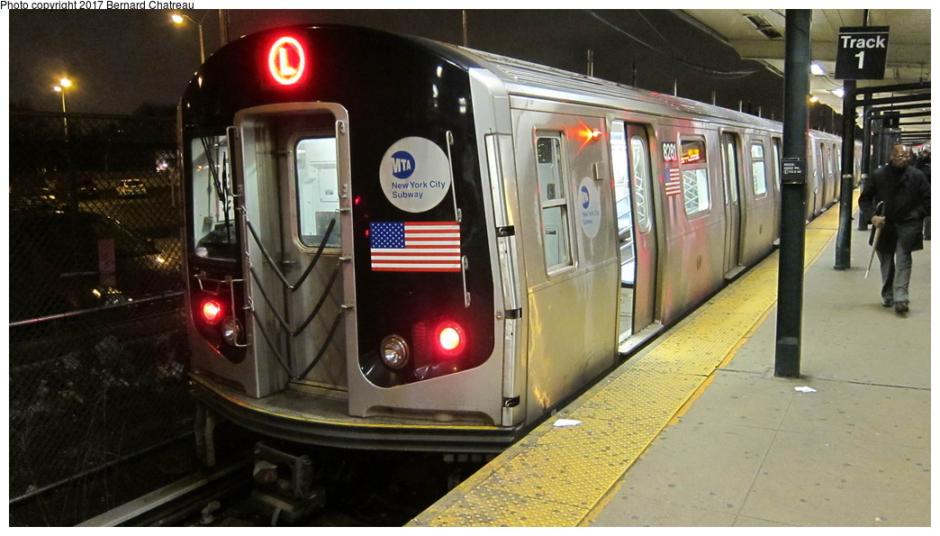 (263k, 1044x595)<br><b>Country:</b> United States<br><b>City:</b> New York<br><b>System:</b> New York City Transit<br><b>Line:</b> BMT Canarsie Line<br><b>Location:</b> Rockaway Parkway <br><b>Route:</b> L<br><b>Car:</b> R-143 (Kawasaki, 2001-2002) 8281 <br><b>Photo by:</b> Bernard Chatreau<br><b>Date:</b> 4/8/2011<br><b>Viewed (this week/total):</b> 2 / 431