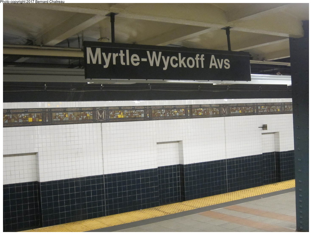 (263k, 1044x788)<br><b>Country:</b> United States<br><b>City:</b> New York<br><b>System:</b> New York City Transit<br><b>Line:</b> BMT Canarsie Line<br><b>Location:</b> Myrtle Avenue <br><b>Photo by:</b> Bernard Chatreau<br><b>Date:</b> 4/11/2011<br><b>Viewed (this week/total):</b> 3 / 460