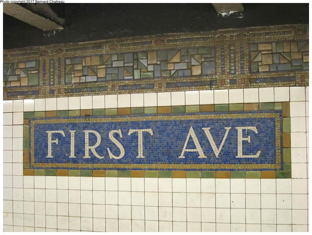 (311k, 1044x788)<br><b>Country:</b> United States<br><b>City:</b> New York<br><b>System:</b> New York City Transit<br><b>Line:</b> BMT Canarsie Line<br><b>Location:</b> 1st Avenue <br><b>Photo by:</b> Bernard Chatreau<br><b>Date:</b> 4/11/2011<br><b>Viewed (this week/total):</b> 1 / 420