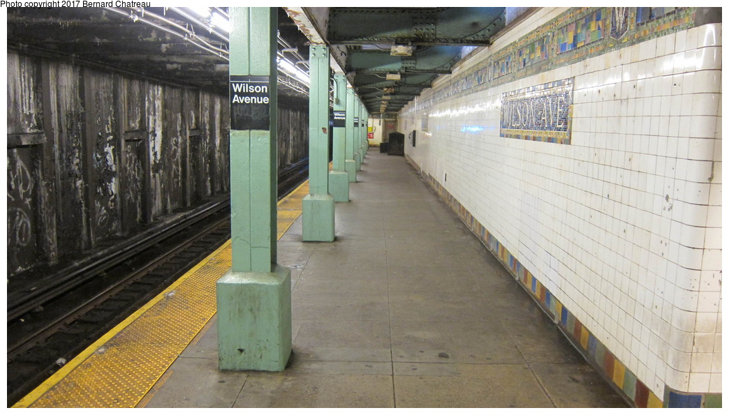 (274k, 1044x595)<br><b>Country:</b> United States<br><b>City:</b> New York<br><b>System:</b> New York City Transit<br><b>Line:</b> BMT Canarsie Line<br><b>Location:</b> Wilson Avenue <br><b>Photo by:</b> Bernard Chatreau<br><b>Date:</b> 9/25/2011<br><b>Viewed (this week/total):</b> 2 / 653
