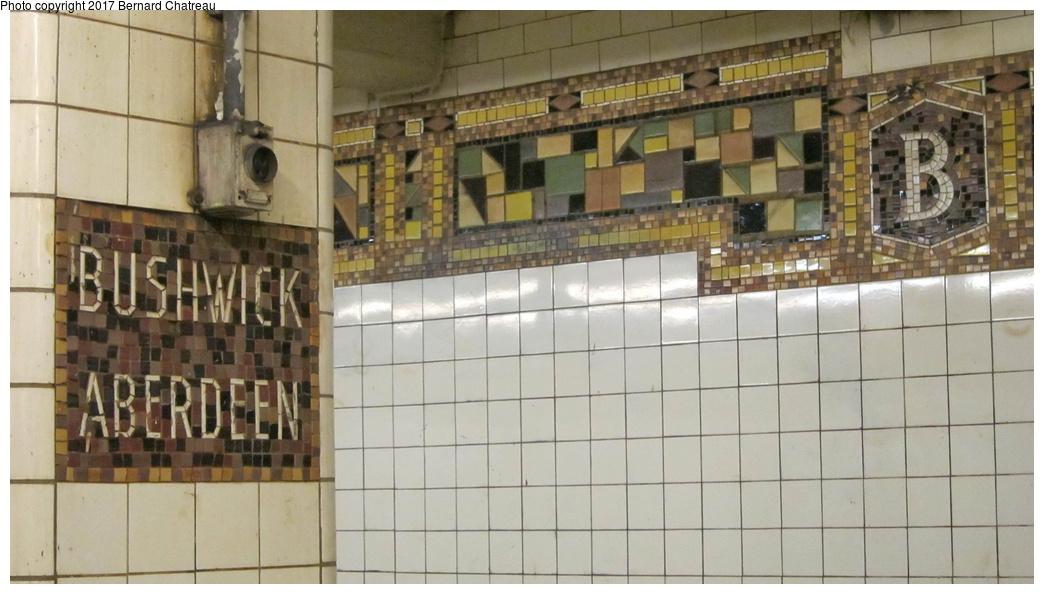 (233k, 1044x594)<br><b>Country:</b> United States<br><b>City:</b> New York<br><b>System:</b> New York City Transit<br><b>Line:</b> BMT Canarsie Line<br><b>Location:</b> Bushwick-Aberdeen <br><b>Photo by:</b> Bernard Chatreau<br><b>Date:</b> 9/25/2011<br><b>Viewed (this week/total):</b> 1 / 509