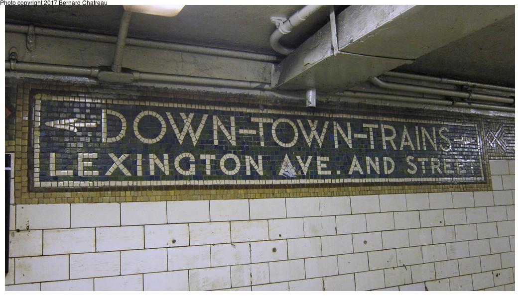 (278k, 1044x595)<br><b>Country:</b> United States<br><b>City:</b> New York<br><b>System:</b> New York City Transit<br><b>Line:</b> IRT White Plains Road Line<br><b>Location:</b> 149th Street/Grand Concourse (Mott Avenue) <br><b>Photo by:</b> Bernard Chatreau<br><b>Date:</b> 9/23/2011<br><b>Notes:</b> Station mosaics.<br><b>Viewed (this week/total):</b> 1 / 401