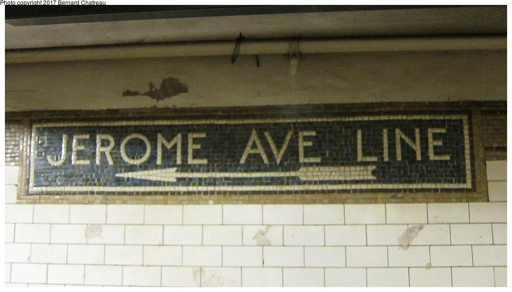 (226k, 1044x595)<br><b>Country:</b> United States<br><b>City:</b> New York<br><b>System:</b> New York City Transit<br><b>Line:</b> IRT White Plains Road Line<br><b>Location:</b> 149th Street/Grand Concourse (Mott Avenue) <br><b>Photo by:</b> Bernard Chatreau<br><b>Date:</b> 9/23/2011<br><b>Notes:</b> Station mosaics.<br><b>Viewed (this week/total):</b> 1 / 416